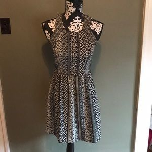 Fun printed black and white American Eagle dress